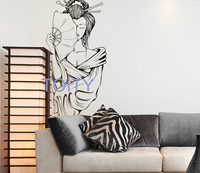 20 Designs Japanese Woman Wall Sticker Geisha Vinyl Decal Asian Orient Style Home Bedroom Decor Art Removable Mural