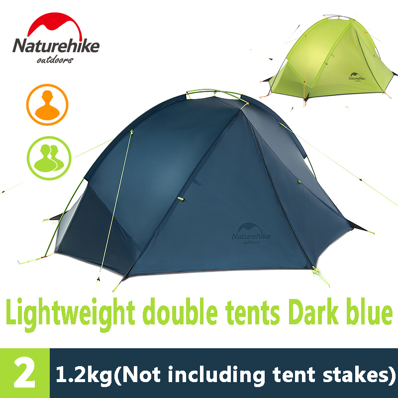 Naturehike 1/2 Person Ultralight Backpacking Tent Outdoor Camping Single Layer Waterproof Tent NH17T140-J/NH17T180-J high quality outdoor 2 person camping tent double layer aluminum rod ultralight tent with snow skirt oneroad windsnow 2 plus
