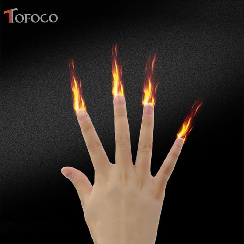 4 PCS Finger Fire Magic Tricks Stage Magic Prop Magician ...