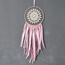 Buy ribbon dream catcher and get free shipping on aliexpress 5pcsset pink ribbon lace dream catcher with white flower wind chimes wedding decoration car mightylinksfo