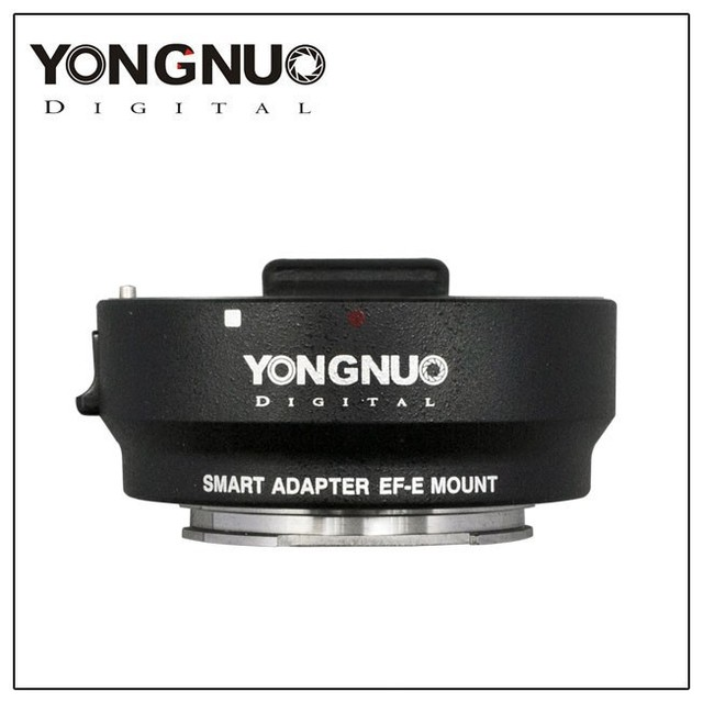 Nueva yongnuo inteligente adaptador ef-m montura e para canon ef lente para sony nex adaptador inteligente mark iii (negro) EF para E-mount
