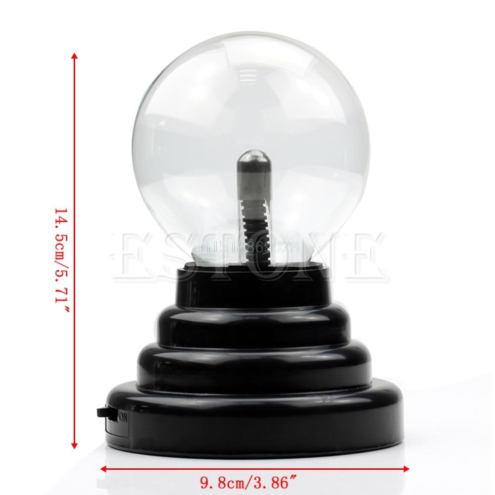 Lightning USB Magic Black Base Glass Plasma Ball Sphere Lightning Party Lamp Light