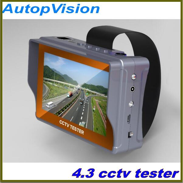 imágenes para 4.3 pulgadas cctv tester monitor de cvbs analógica cámara prueba utp cable test salida 12v1a envío gratis