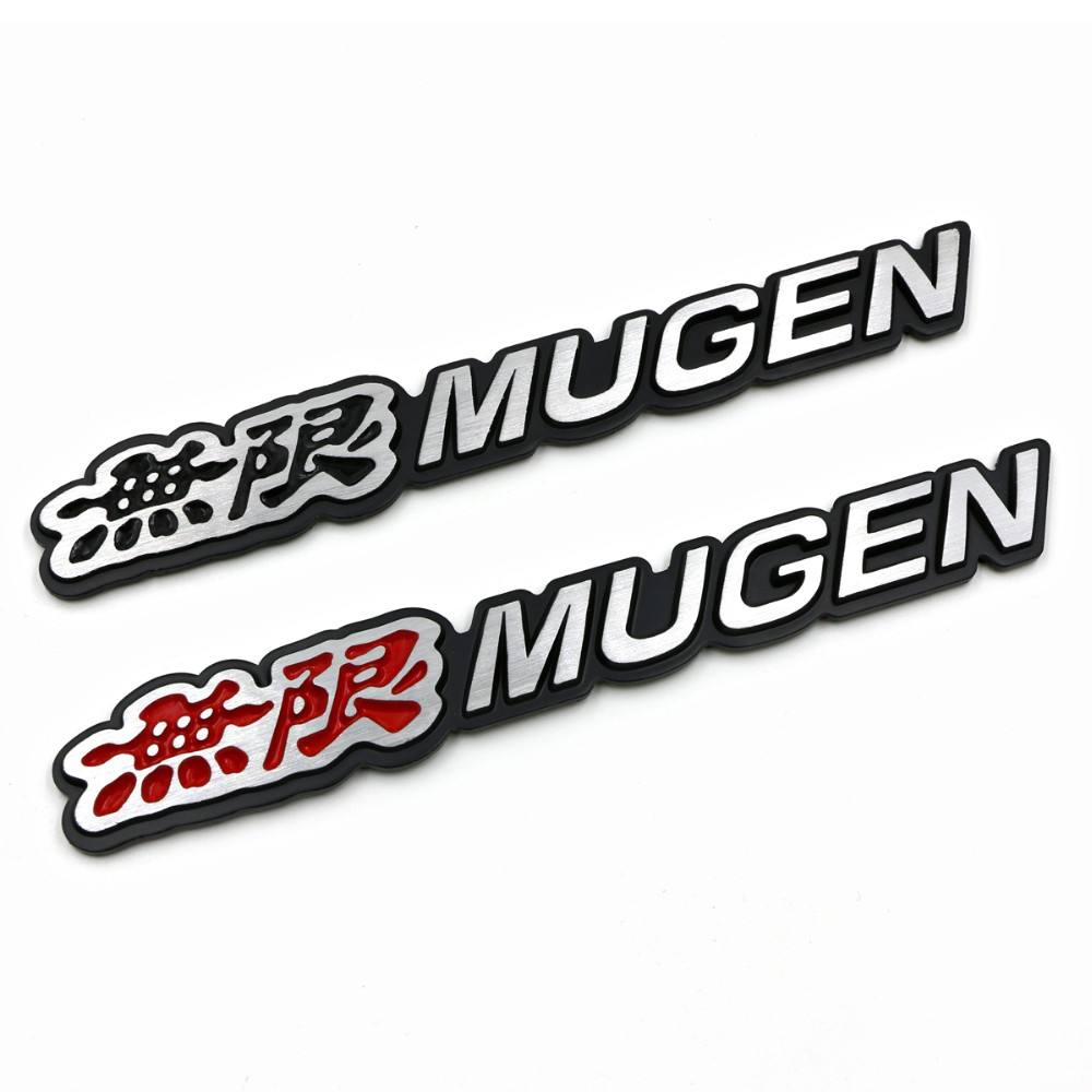 3D Aluminum Mugen Emblem Chrome Logo Rear Badge Car Trunk Sticker Car Styling for Honda Civic Accord CRV Fit and so on car styling for mercedes benz g series w460 w461 w463 g230 g300 g350 chrome number letters rear trunk emblem badge sticker