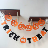 Halloween Party Banner Flag Decoration Pumpkin Designed With Letter Decorative Outdoor And Indoor Flags Custom Garden Flag