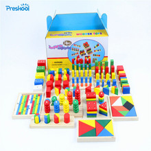 ของเล่นเด็ก Montessori Sensorial ของเล่น 1 Lot = 14 ชิ้นเด็กปฐมวัยการศึกษาก่อนวัยเรียนของเล่นสำหรับเด็ก Brinquedos Juguetes