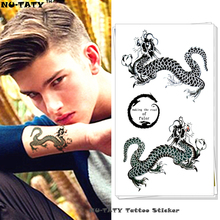 Nu-TATY The Dragon of Guardian Temporary Tattoo Body Art Arm Flash Tattoo Stickers 17*10cm Waterproof Fake Henna Painless Tattoo(China)