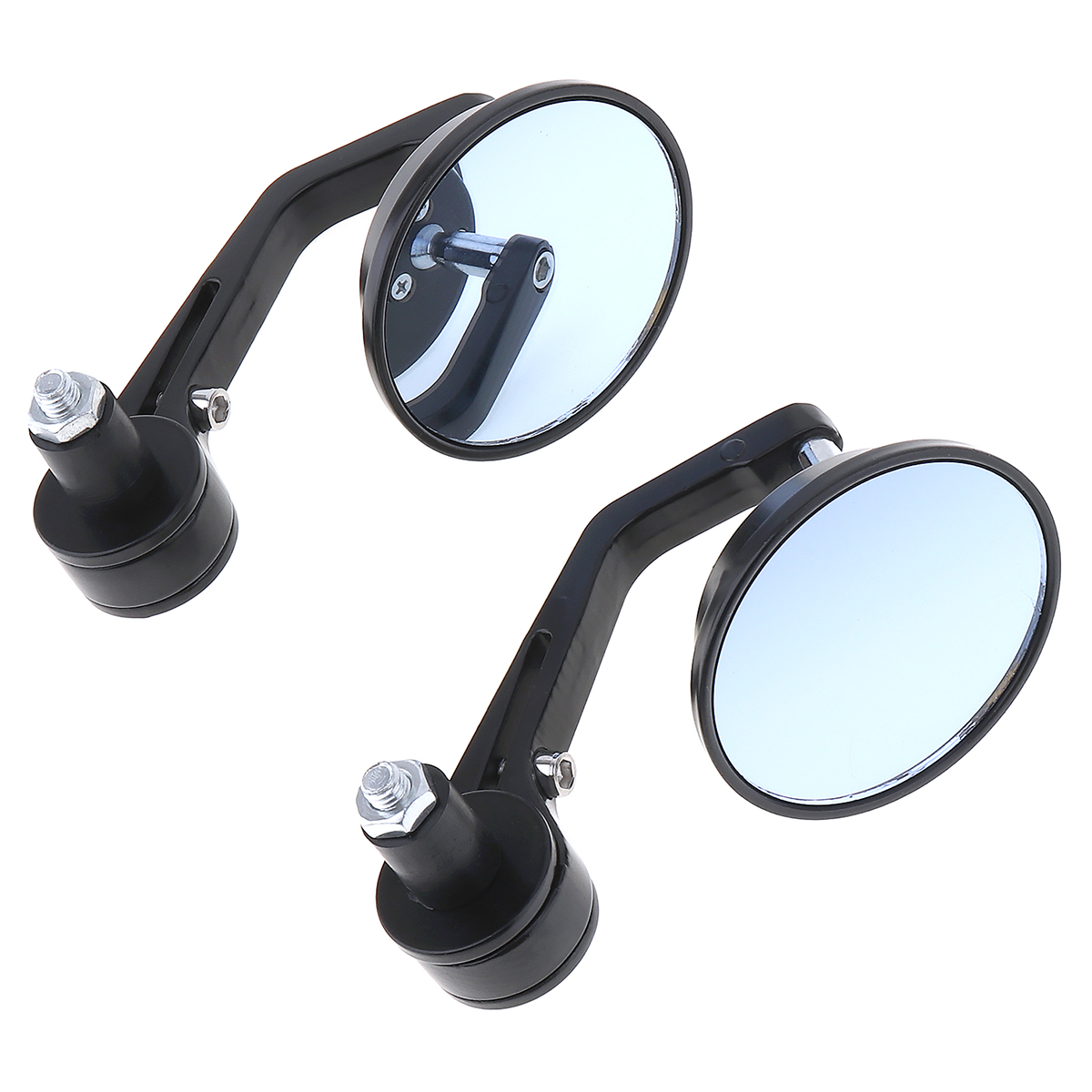 "Round 7/8"" Handlebar Aluminum Alloy Motocycle Rearview Mirrors End Modified Rear-view Mirror Motorcycle Accessories 2pcs"