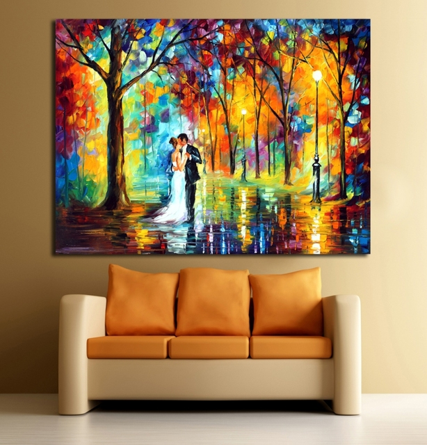 Us 8 99 Wedding In The Forest Fashion Color Palette Picture Frameless Canvas Printing For Home Office Cafe Decoration In Painting Calligraphy From
