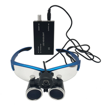 Dental Loupes 3.5X 420 mm Surgical Magnifier Binocular Magnifying Glass with LED Head Light Lamp Surgical Dentists Magnifier