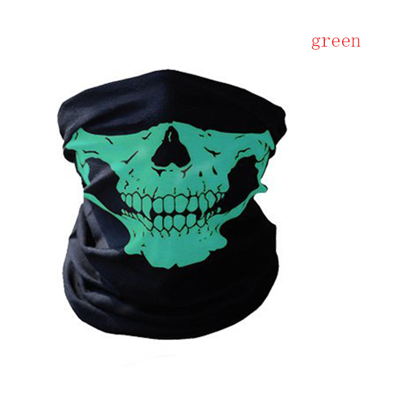 Bicycle Ski Skull Half Face Mask Ghost Scarf Neck Warmer Multi Use Winter Warm Outdoor Face Mask