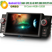 Octa Core Android 8.0 DAB+ Autoradio WiFi 4G BT SD Radio RDS DTV IN GPS Canbus RDS OBD Car GPS Navigation for FIAT Linea Punto