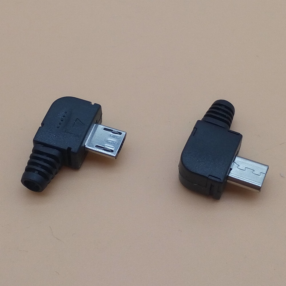 20sets Micro 5P USB male Plug Solder type Tail Charging plug 90 Degree 3 in 1 Connector DIY Black джинсы дудочки quelle b c best connections by heine 171496