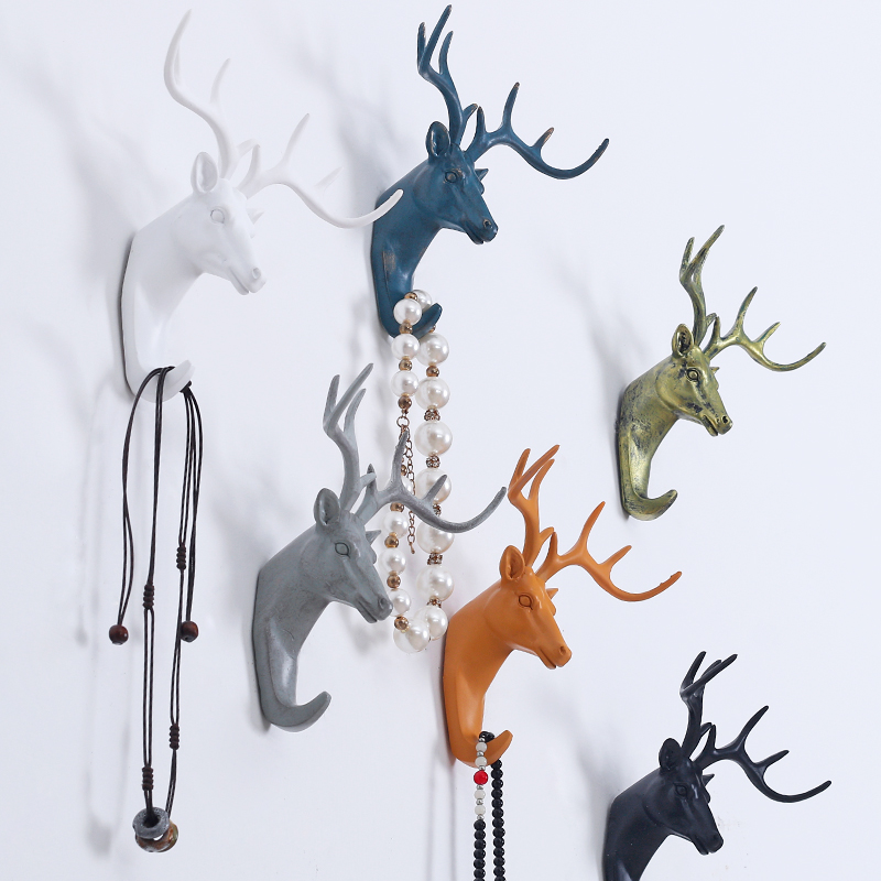 2019 Ny högkvalitativ modern europeisk stil Animal Resin Hook Kläder Robe Key Holder Hat Hanger Wall Home Decoration