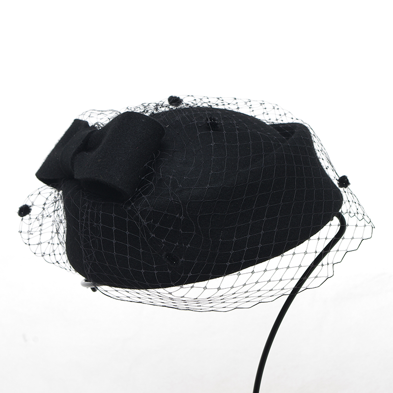 b143dc8c8313d 2016 New Arrival Women Party Elegant Hats Ladies British Style Vintage Mesh  Wool Fedoras Party Prom Formal Caps Hat H035-in Fedoras from Apparel  Accessories ...