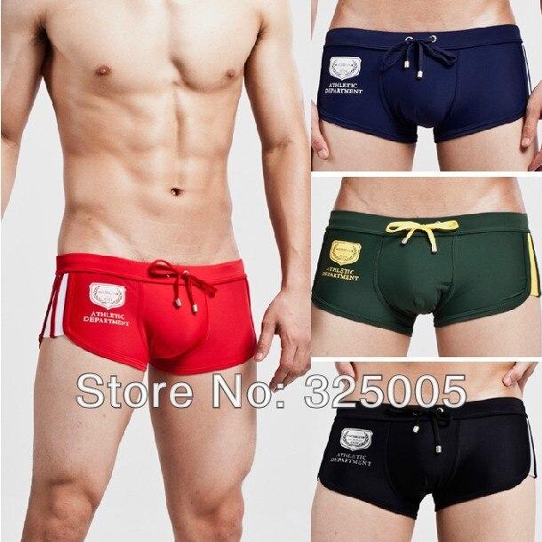Newest mens swim trunks sexy men solid color swim shorts male low rise swimwear men's bikini swimsuit man bathing trunk
