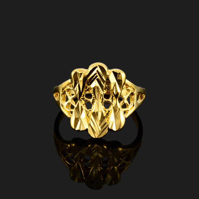 Roman Reigns Newest Arabic Wedding Rings For Women Gold Ring 24k