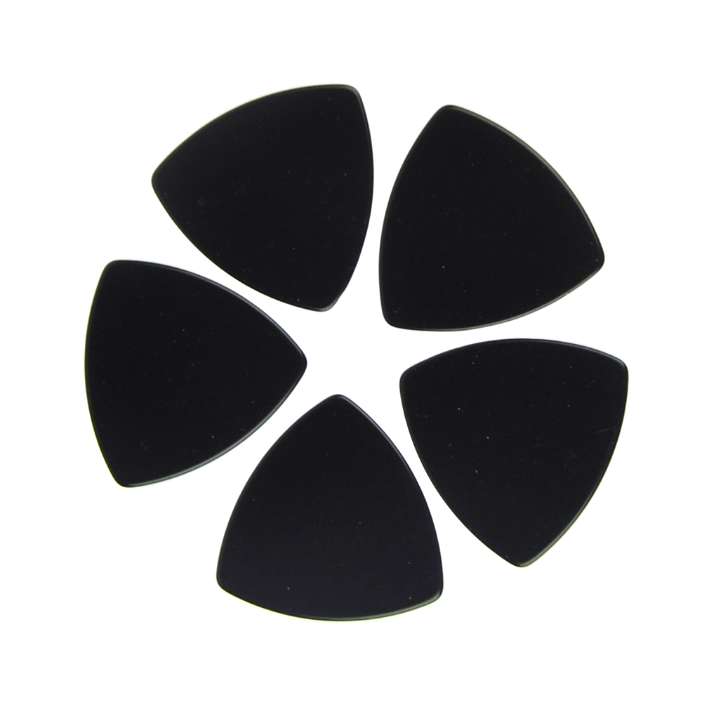 Lots of 100 pcs Rounded Triangle Big Size Medium 0.71mm Celluloid Guitar Picks Solid Black