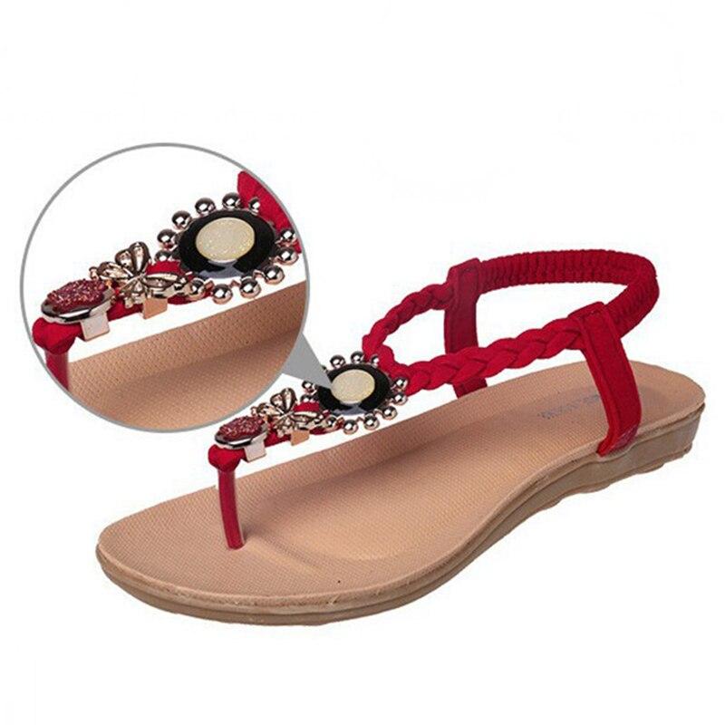 ff6867b81b74 Γυναικεία παπούτσια LAKESHI Women Sandals Ankle-Strap Flats Sandals Women  Summer Shoes 2017 Women Beach Shoes Plus Size 41 42