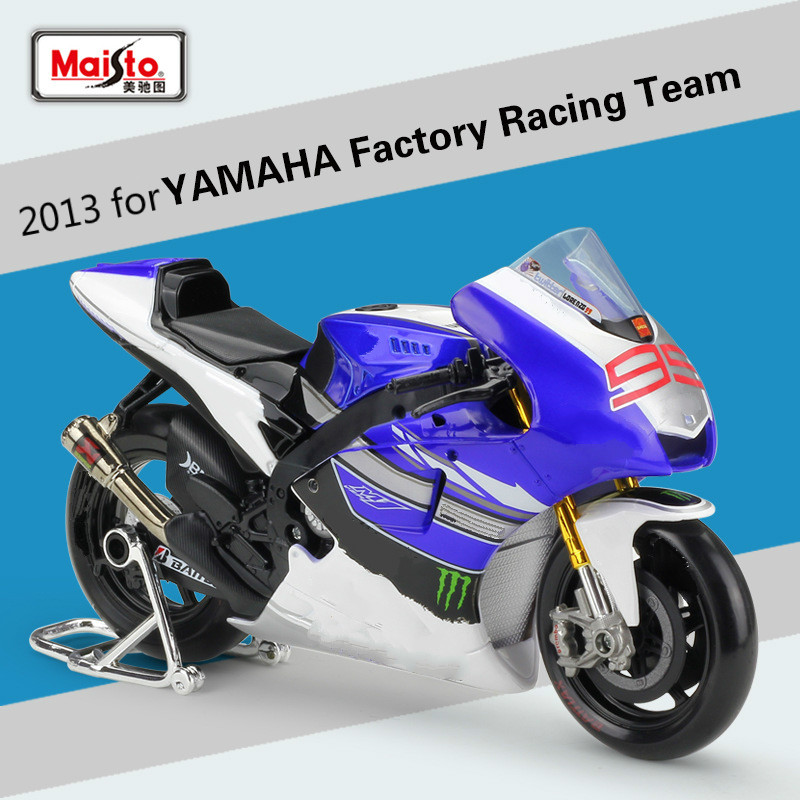 Maisto 1:10 pour YAMAHA usine de course Team2013 moto Simulation alliage modèle moto de fond modèle moulé sous pression Scooter