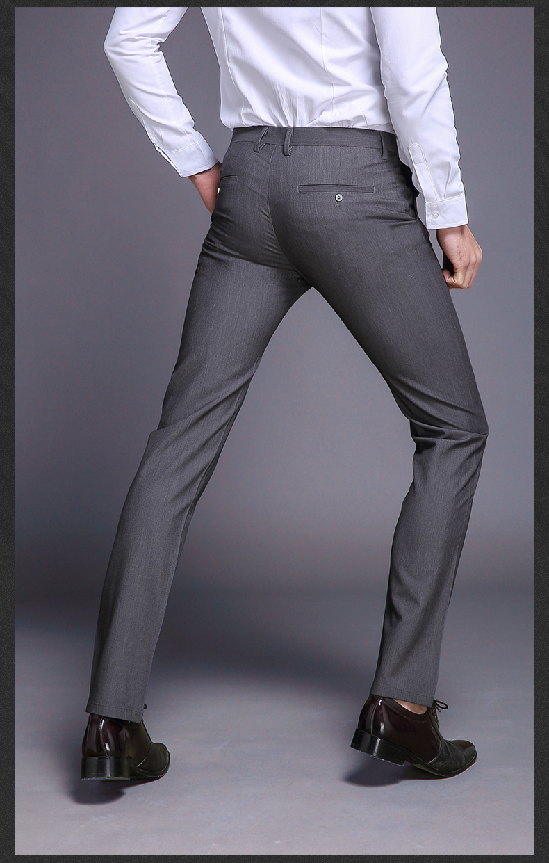 New Fashion High Quality Cotton Men Suit Pants Straight Spring Autumn Long Male Classic Business Casual Trousers Full Length