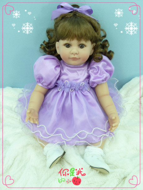 50cm Silicone reborn girls baby dolls toy lifelike 20inch lovely princess toddler doll kid christmas present new year gifts 18 inch girls dolls handmade bjd dolls for girls toy gifts 45cm plastic doll with princess doll with white dress and shoes