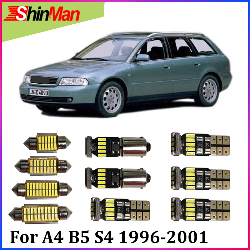 ShinMan14pcs LED CAR Light Car LED Interior Car lighting For <font><b>Audi</b></font> <font><b>A4</b></font> <font><b>B5</b></font> S4 FWD Ouattro LED Interior Light kit 1996-2001 LED image