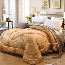 150X200cm Soft Camel Hair Quilt Thickening Heating Polyester Comforter Autumn Spring Comfortable Fluffy Camel Bedquilt