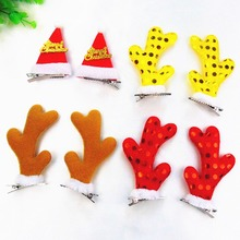 Christmas Reindeer Antlers Hat Hair Clips Grip Hairpins For DIY Women Girs Kid  and Easter Party Costume Accessories
