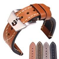 Thick Genuine Leather Watch Band Strap 20mm 22mm Black Brown Green Women Men Watchbands Belt Watches