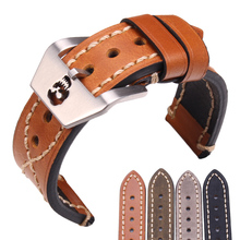 Thick Genuine Leather Watch Band Strap 20mm 22mm Black Brown Green Women Men Watchbands Belt Watches Accessories For Panerai