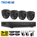 Techege 4CH CCTV System 720P AHD DVR HDMI 4PCS 720p 1.0mp indoor AHD Camera Home Security System 1200TVL Surveillance Kits