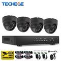 Techege sistema de cctv 4ch 720 p ahd ahd dvr hdmi 4 pcs 720 p 1.0mp indoor sistema de câmera de segurança em casa kits de vigilância 1200tvl