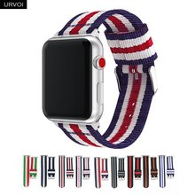 URVOI Nylon band for apple watch series 4 3 2 1 durable woven strap for iwatch comfortable breathable feel with adapters 38 42mm(China)