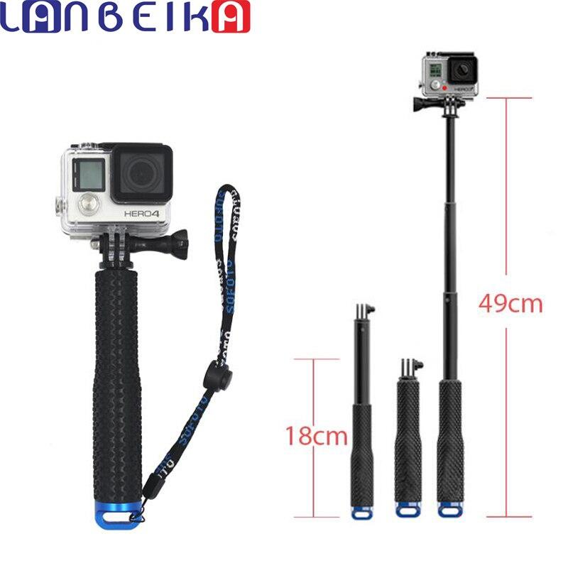 Laneige 49 cm SP POV Pole Monopod de mano extensible Self Selfie Stick para SJCAM SJ5000 SJ6 SJ7 Go Pro héroe 6 5 4 3 + Eken
