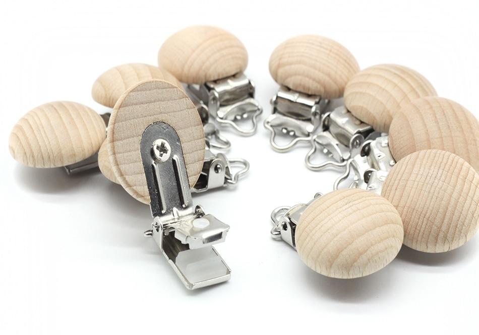 5 Pcs Wood Beech Clip Safety Baby Accessories Wooden Teether Change Pacifier Diy Woodworking Tools New Arrivals Houten Kralen