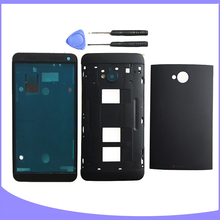 Original for HTC One M7 Dual Sim 802t 802d 802w full housing back case battery cover + middle frame + front plate / faceplate