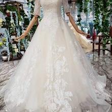 AXJFU Luxury princess champagne vintage wedding dress
