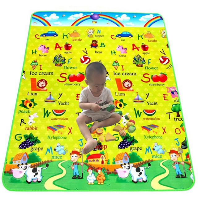 À prova d' água Esteiras de Praia Piquenique Tapete Bebê Engatinhando Cobertor Crianças Brinquedos Puzzle Esteiras Tapete Tapete infantil dom estrela