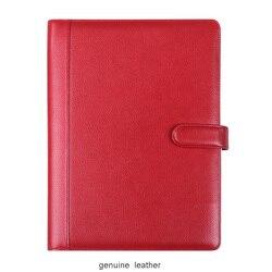 Hoogwaardige business lederen a4 manager bestandsmap documenten bag padfolio met ringband sluiting lock 1248B
