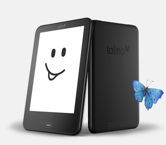 Daily étanche Tolino Vision 2 e lecteur e-encre 6 pouces 1024x758 écran tactile lecteur d'ebook WiFi Tap2 couverture pour tourner la page