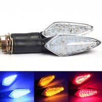 1 Pair Bendable 12V Motorcycle Motorbike LED Turn Signals Indicators Lights Brake Flasher Lamp Universal For