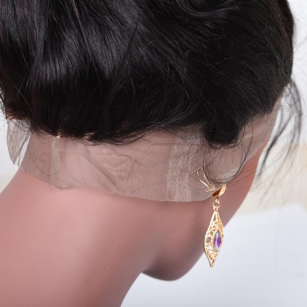 Бразильська об'ємна хвиля попередньо - Людське волосся (чорне) - фото 5