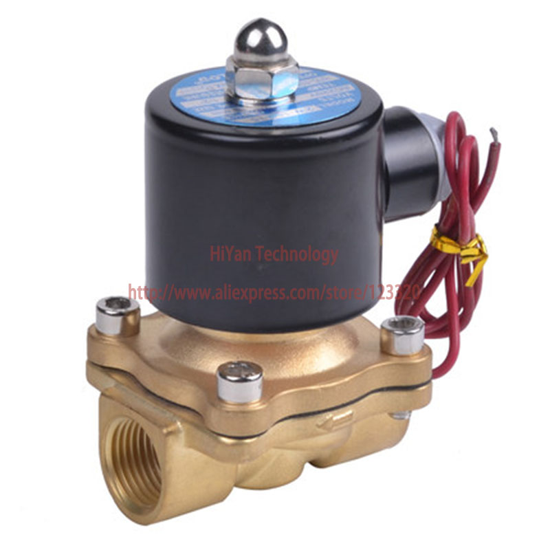 Free shipping 2W250-25 N/C 2 Way 1 Gas Water Pneumatic Electric Solenoid Valve Water Air DC12V, DC24V, AC220V 1 2 built side inlet floating ball valve automatic water level control valve for water tank f water tank water tower