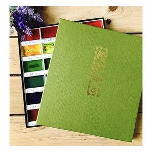 Image 5 - Zig Kuretake Pigment Gansai Tambi Aquarel Verf Starry/Pearl/Gem Kleuren Japanse Solid Pigment Voor Tekening Art Supplies