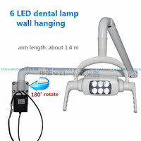 2018 good quality Medical LED Surgical operating lamp Wall Mounted Hanging dental light 180 degree rotate