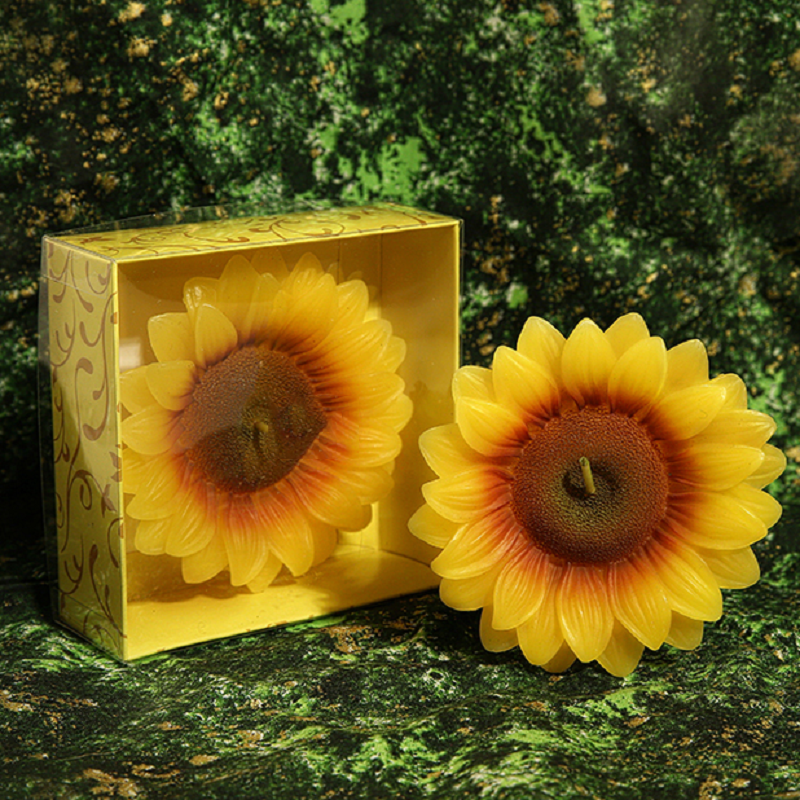 Creative Scented Birthday Weddings Candles Cute Sunflower Flameless Candles Cake For Chi ...
