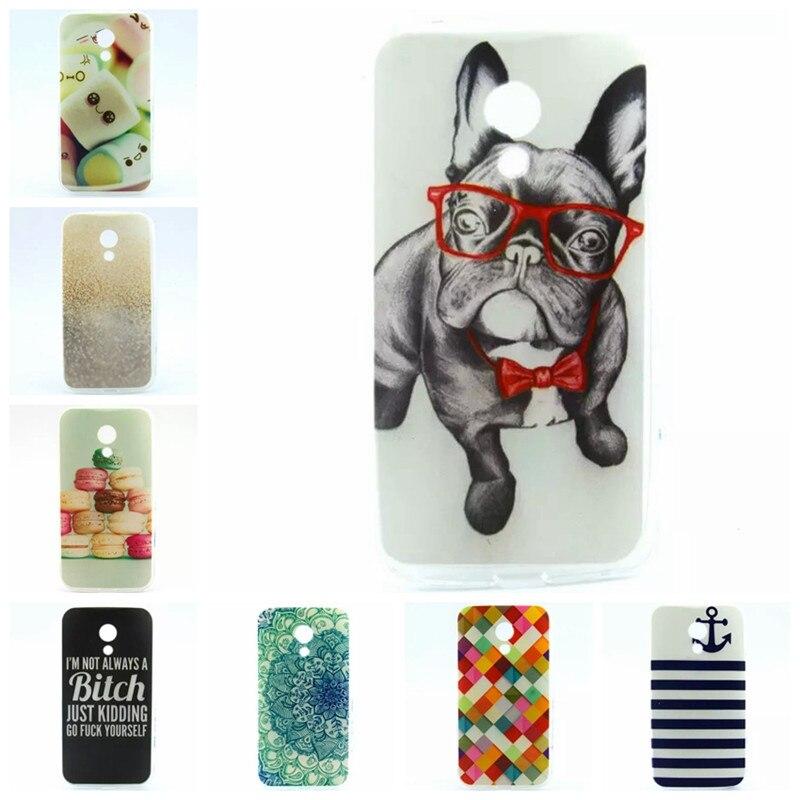 Cute Style Case for Motorola Moto G2 G 2nd Gen XT1063 XT1068 XT1069 Case Dog Cat Flower Gel Soft Silicone Covers TPU Phone Cases
