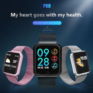 Image 4 - Smart Horloge P68 Band IP68 Waterdichte Smartwatch Dynamische Hartslag Bloeddrukmeter Voor Iphone Android Sport Gezondheid Horloge
