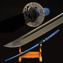 Black Katana Sword Handmade Japanese Samurai Sword High Carbon Steel Alloy Tsuba Very Sharp Blade Battle